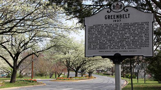 Entrance to Greenbelt, Maryland