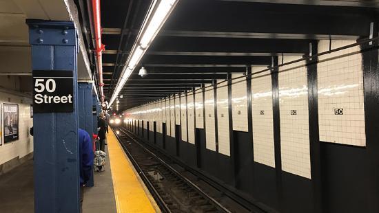 Underground subway station.