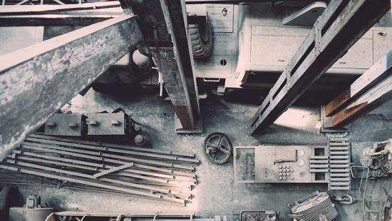 Steel girders, rods, concrete, gears, equipment housings.