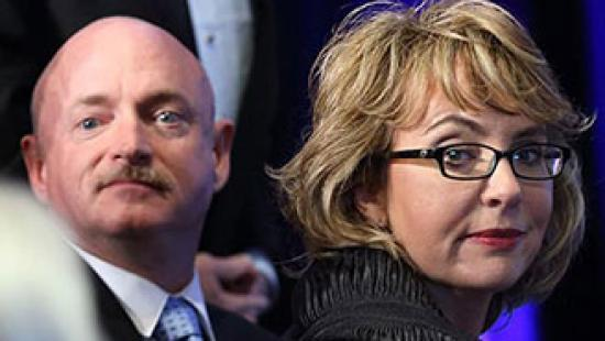 Mark Kelly and Gabrielle Giffords