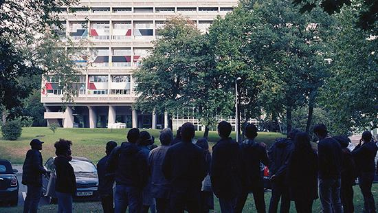 Field trip students and faculty visit modernist housing project by Le Corbusier in Berlin