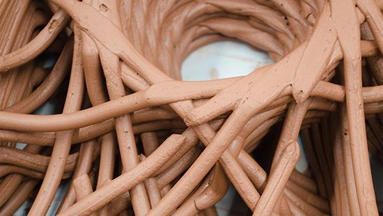 a detail of bilotti and rosenwassers 3D clay thesis project