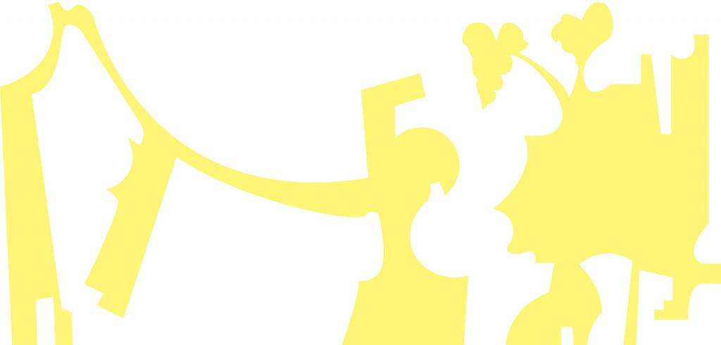 Abstract yellow and white image