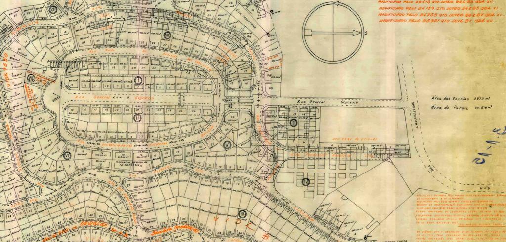 old city plan of Rio de Janeiro