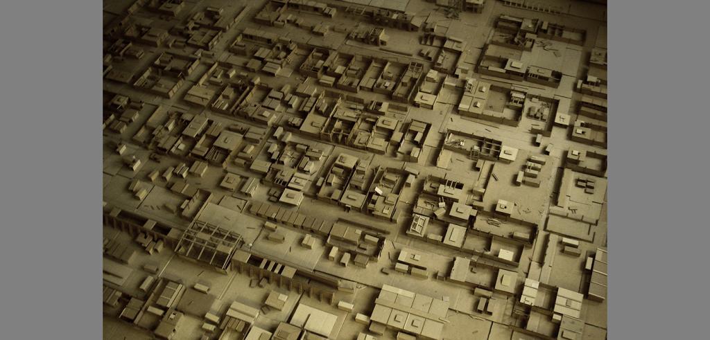 Cardboard model of a town
