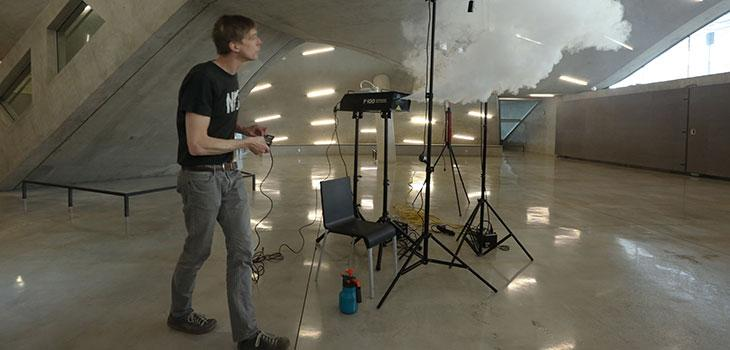 Smilde tests fog machine