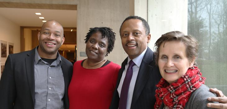 From left, Travis Gosa, Noliwe Rooks, Earl Lewis, and Mary Woods