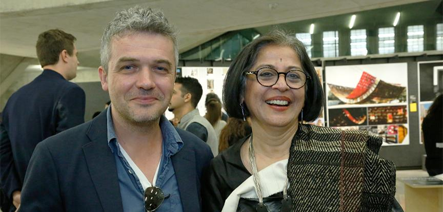 Luben Dimcheff and Brinda Somaya at the Currents in Indian Architecture symposium