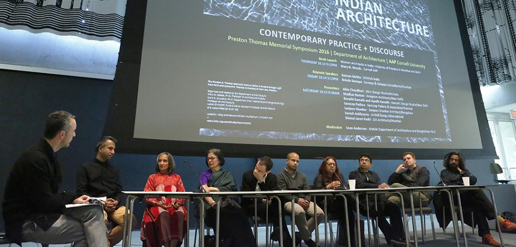 Panelists at the Currents in Architecture symposium