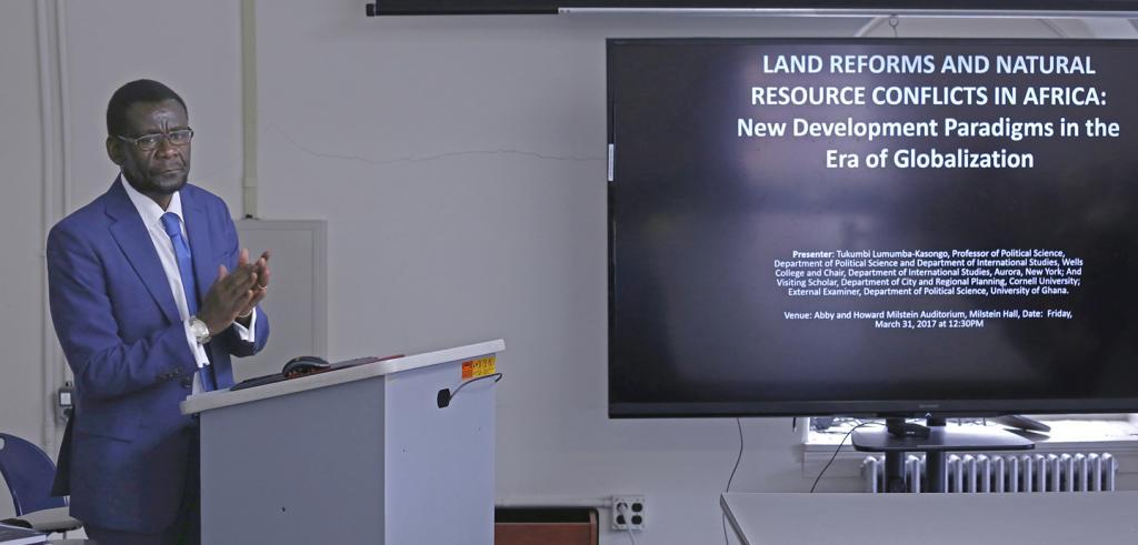 Tukumbi Lumumba-Kasongo lecturing