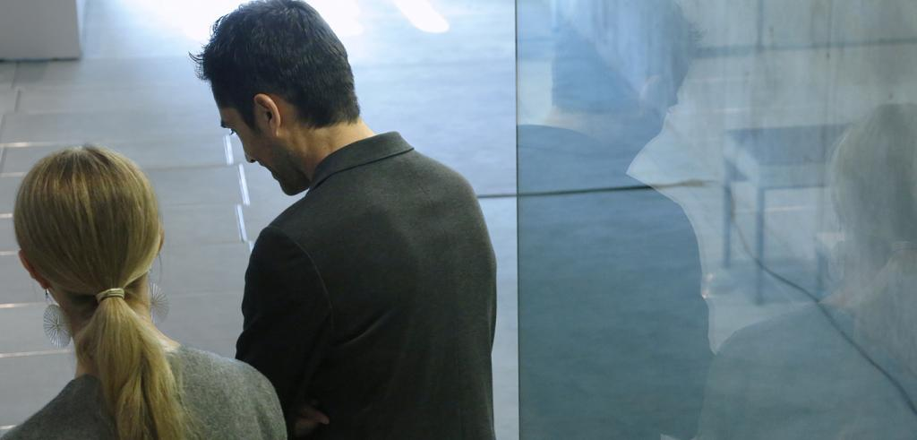 the backs of Mauricio Pezo and Sofia von Ellrichshausen