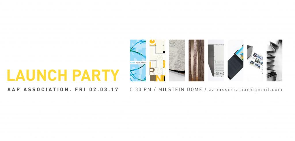 Association Launch Party poster
