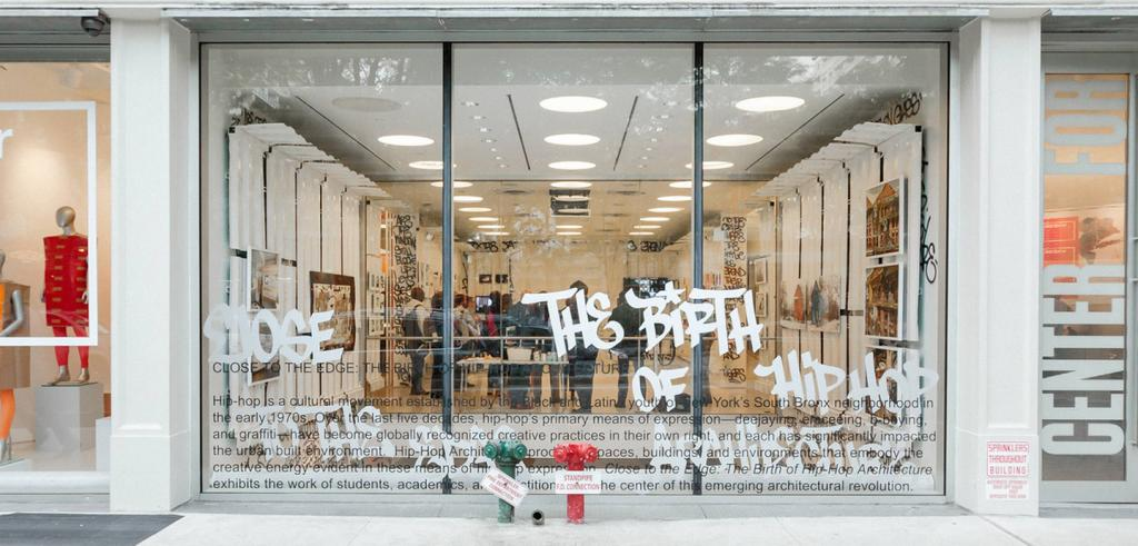 Storefront with graffiti