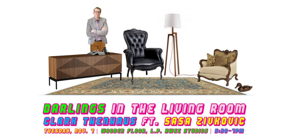 Man superimposed in a living room setting