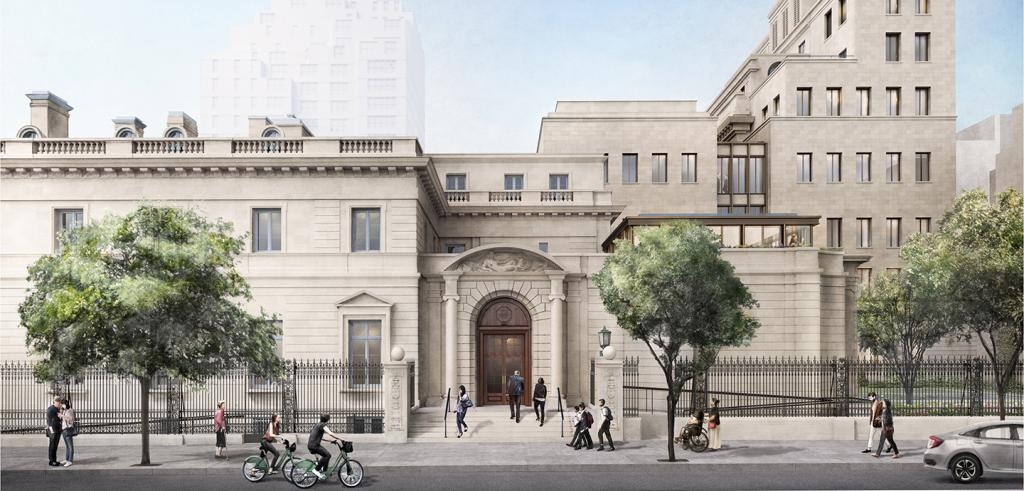 an architectural rendering of the proposed design for the renovation of The Frick Collection