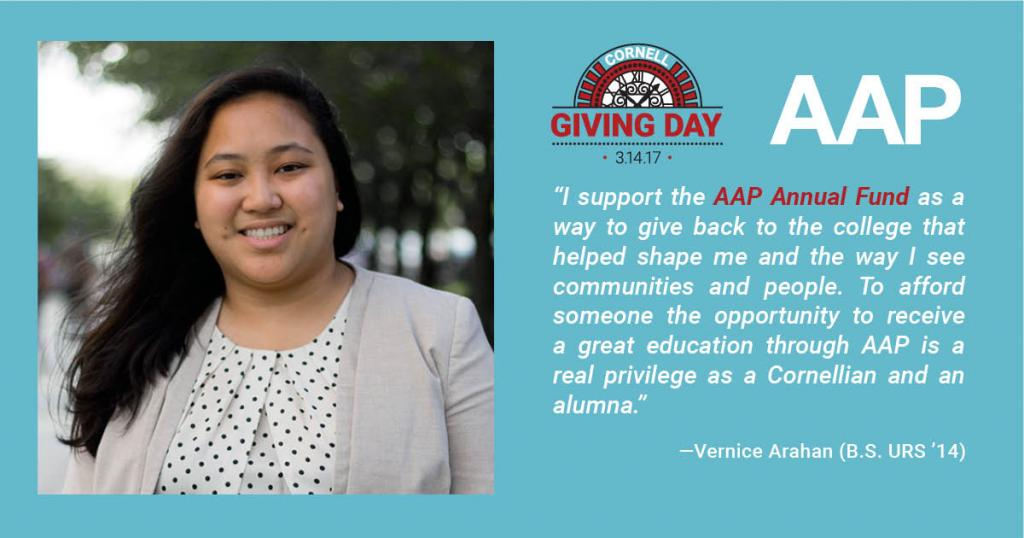 alumna headshot and text about why she supports AAP