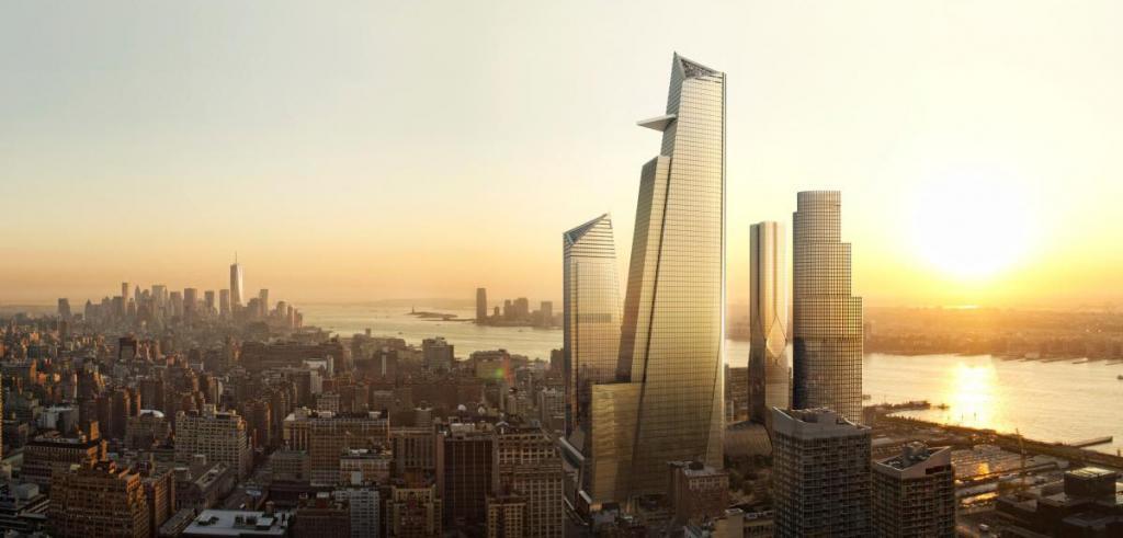 Rendering of design on New York City skyline