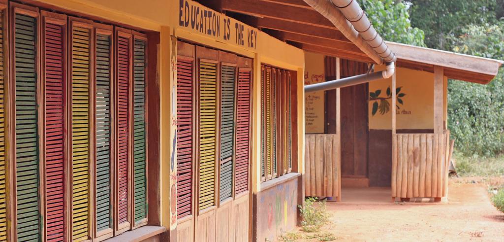 a village school building in Ghana