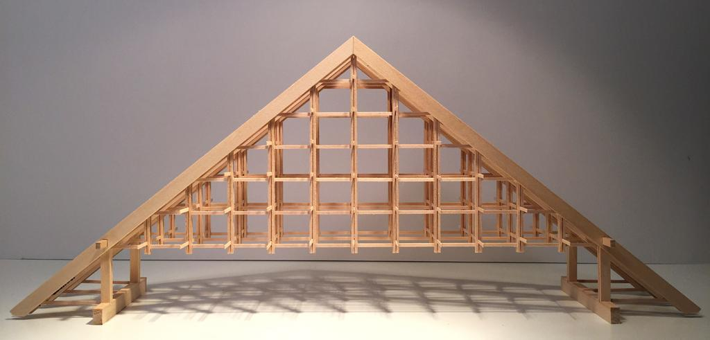 Basswood model of truss system
