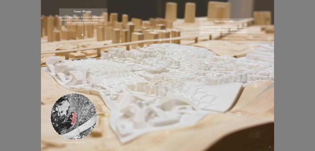 a 3D scale model of a city and suburbs