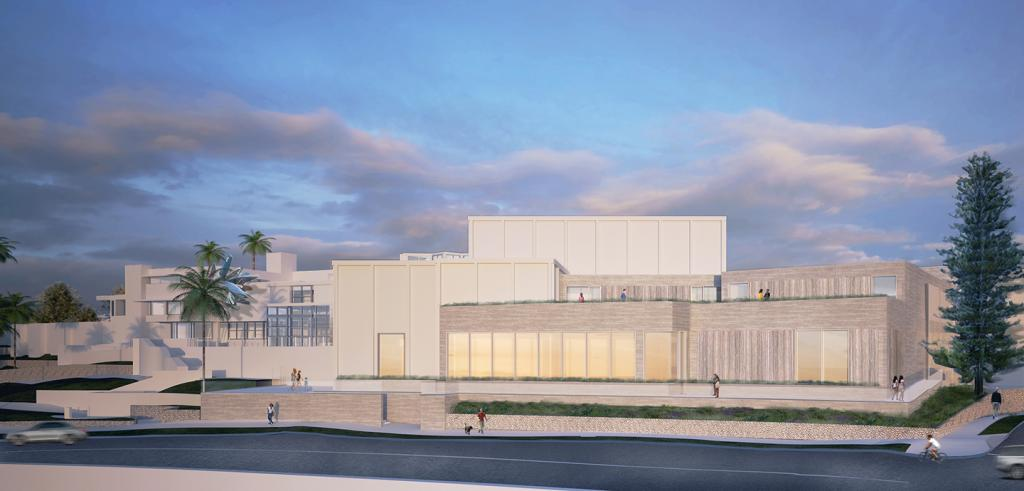an architectural rendering of the Museum of Contemporary Art San Diego