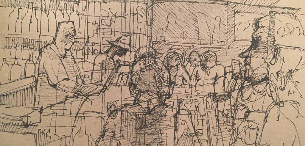 Hide Away Bar Scene, Maggie O'Keefe (B.F.A. '19)