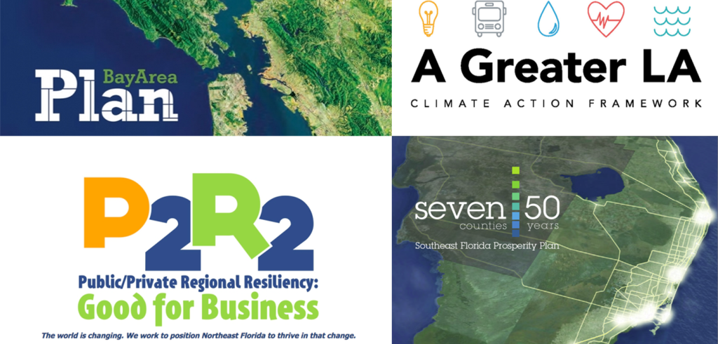 Four posters for regional resiliency and climate change plans