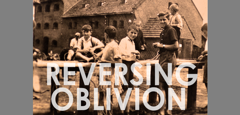Promotional postcard for Reversing Oblivion