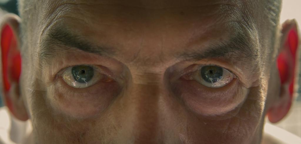 Close up of man's eyes