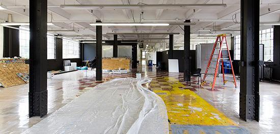 interior of Rand Hall under construction