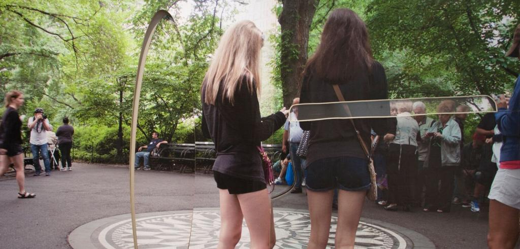 Photo of young women in Central Park by Rose Marcus