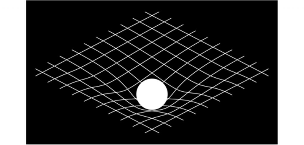 3D grid with circle.