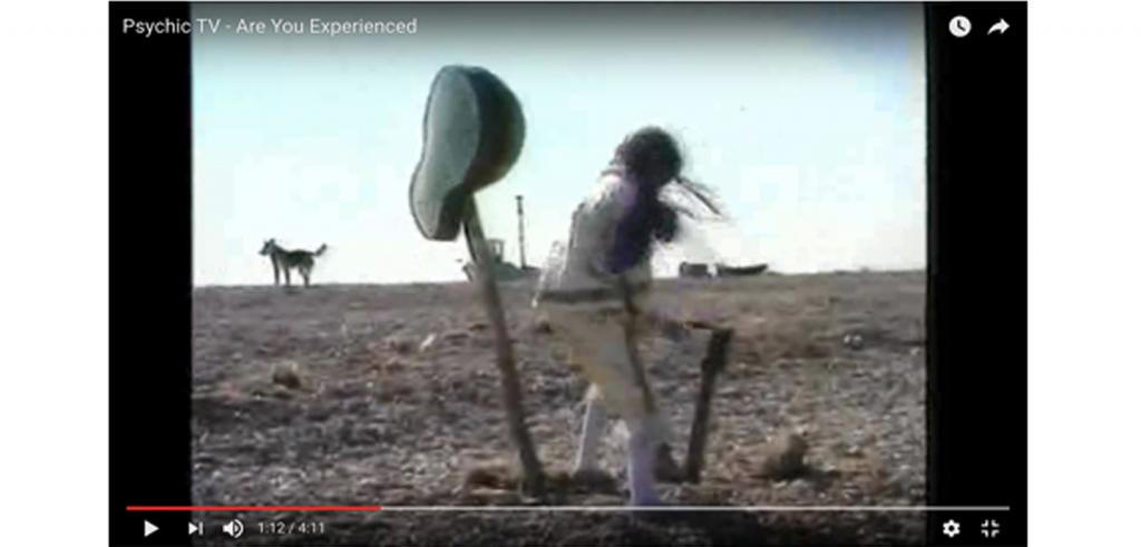 Still from a video clip titled Psychic TV - Are You Experienced