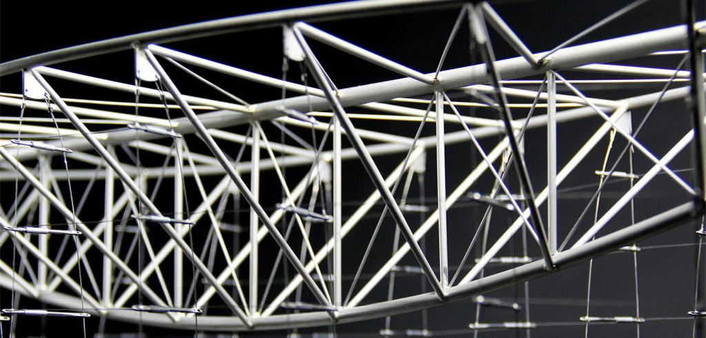 3D rendering of structural truss