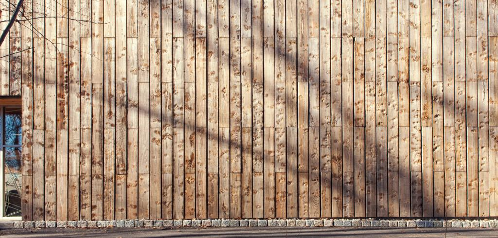 photo of the side of a building made of wood