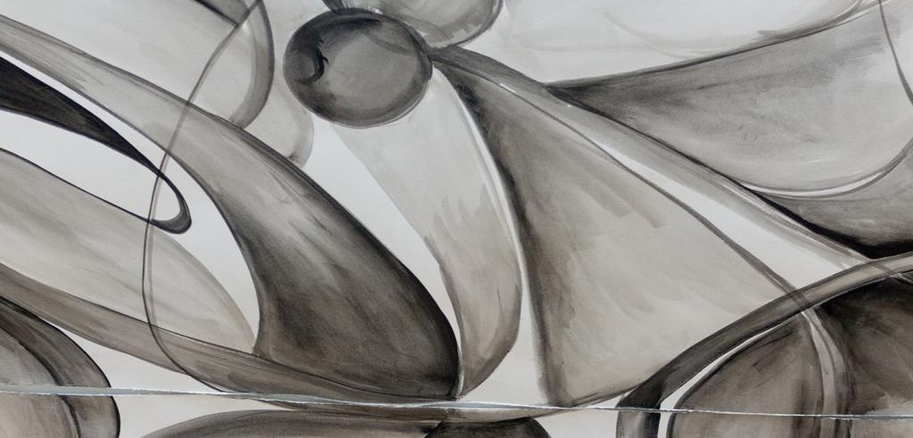 Detail of a black, white, and gray abstract drawing.