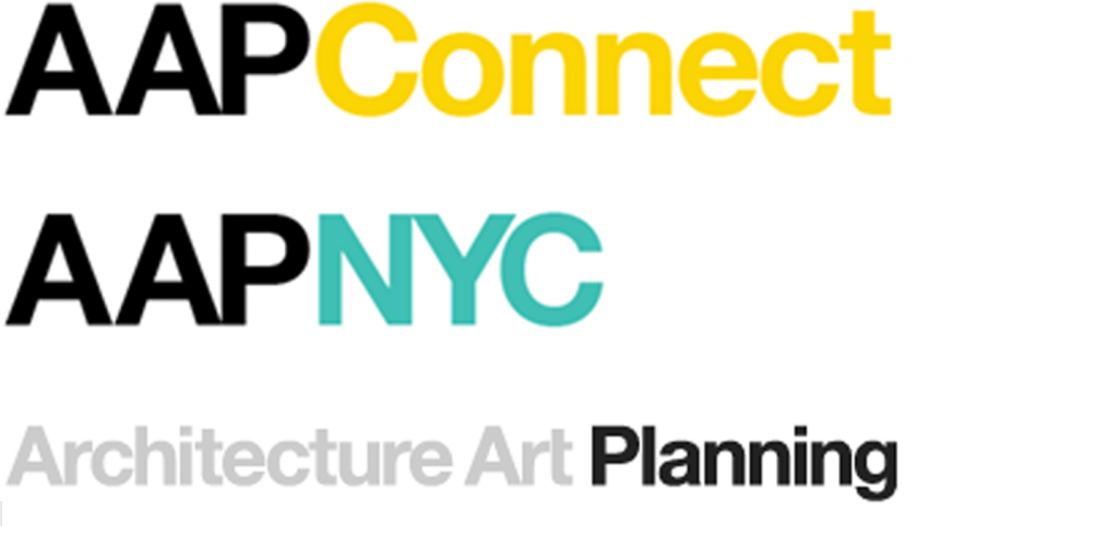 AAP Connect and AAP NYC logo in black yellow and turquoise emphasis on planning