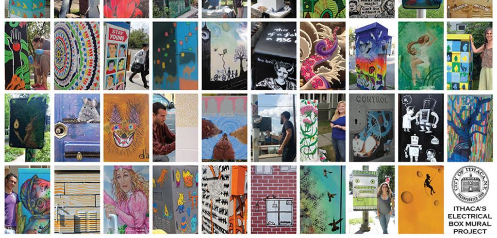 collage of painted walls and boxes in Ithaca