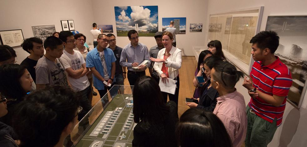 MoMA's Jennifer Gray with M.Arch.II students