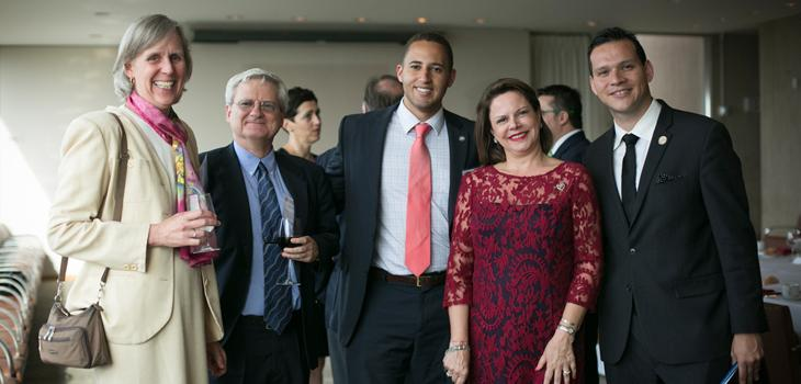 Warner and Costa Rica delegation