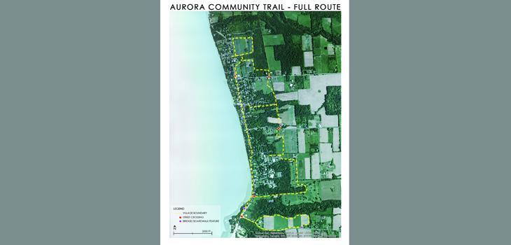 Aurora Community Trail map