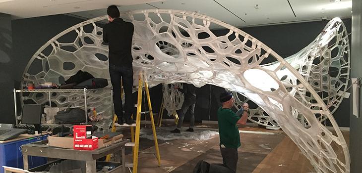 Fiber pavilion installation