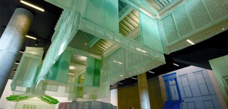 Installation view of Takahiro Iwasaki (2010), Phenotypic Remodeling, mixed media.
