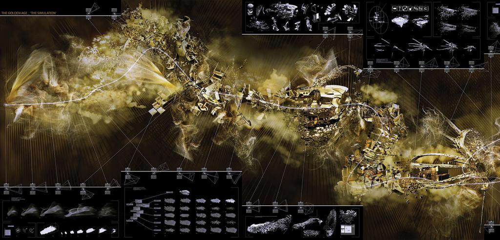 Paul Nicholls, Golden Age-Simulation, chronogram.