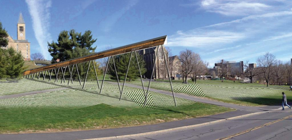 Image of the installation on Libe Slope