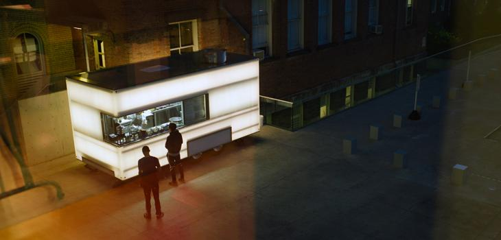 food truck at night