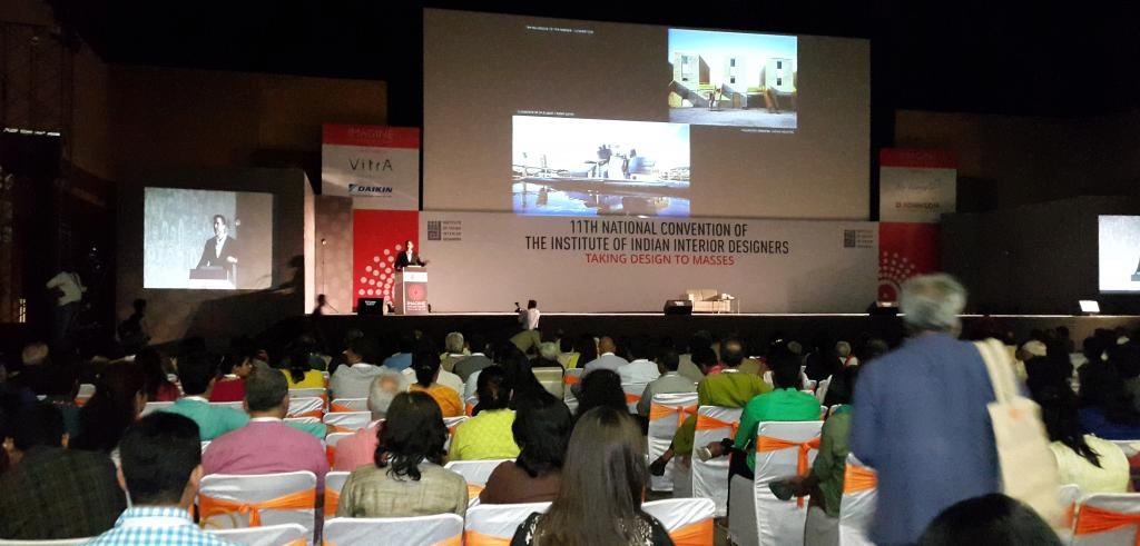 Iñaqui Carnicero presented a lecture at interior design conference in Indore, India