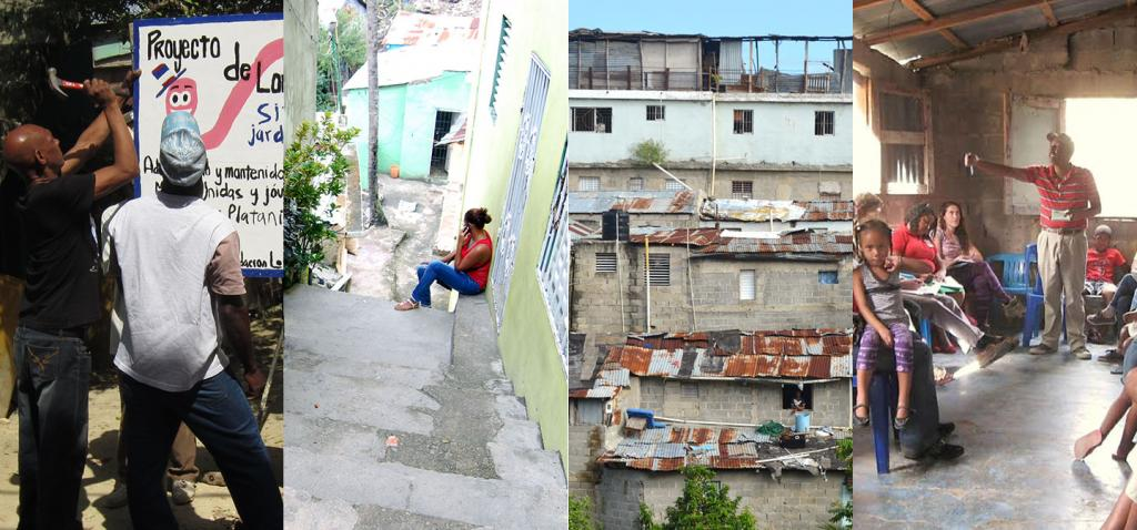 Views of low-income neighborhoods in Latin America