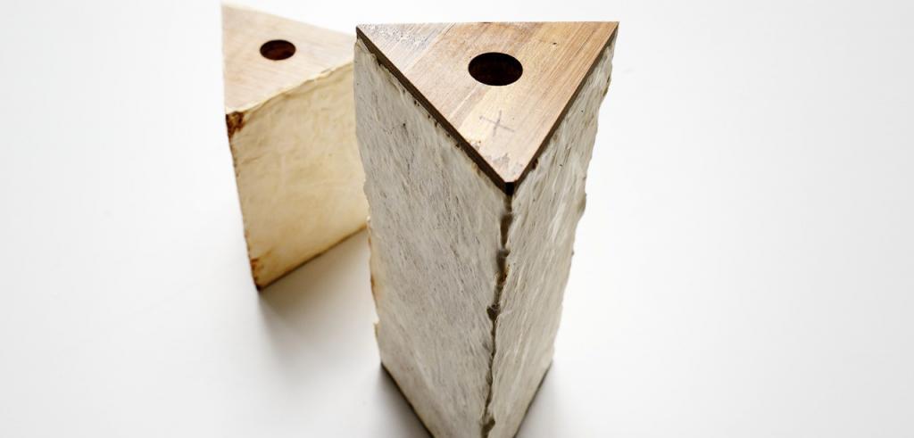 photo of triangular sculpture
