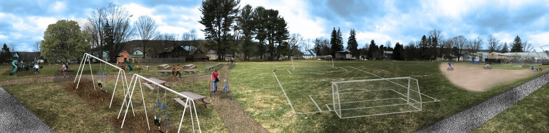 Pubic park scene.